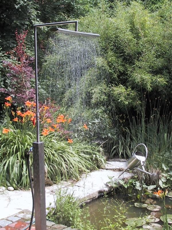 Edle gartendusche aus v2a f r garten und pool direkt vom for Garten pool hersteller