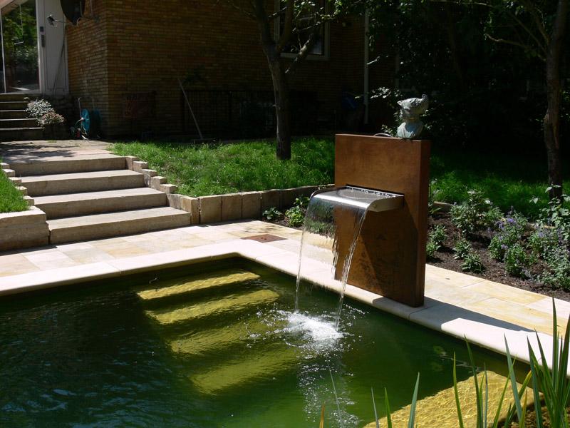 Wasserfallbrunnen Mekong Für Den Garten Teich Oder Pool Geeignet